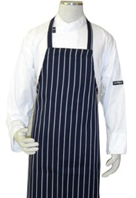 Blue Stripe Butcher Bib Apron