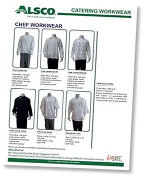 Downloadable brochure for Alsco chef work wear