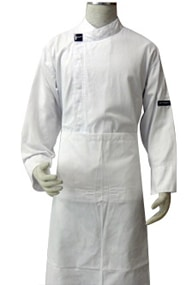 Alsco White Polycotton Wasit Apron