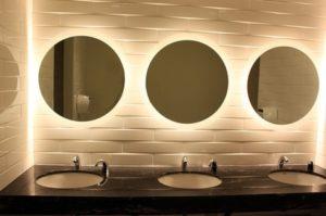 CLEAN AND GOOD LIGHTING WASHROOM