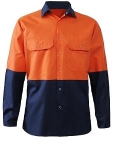 Alsco Technica Lligh WeightOrangeNavy Day Workshirt