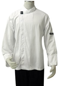 White Unisex Long Sleeve Waiter's Jacket