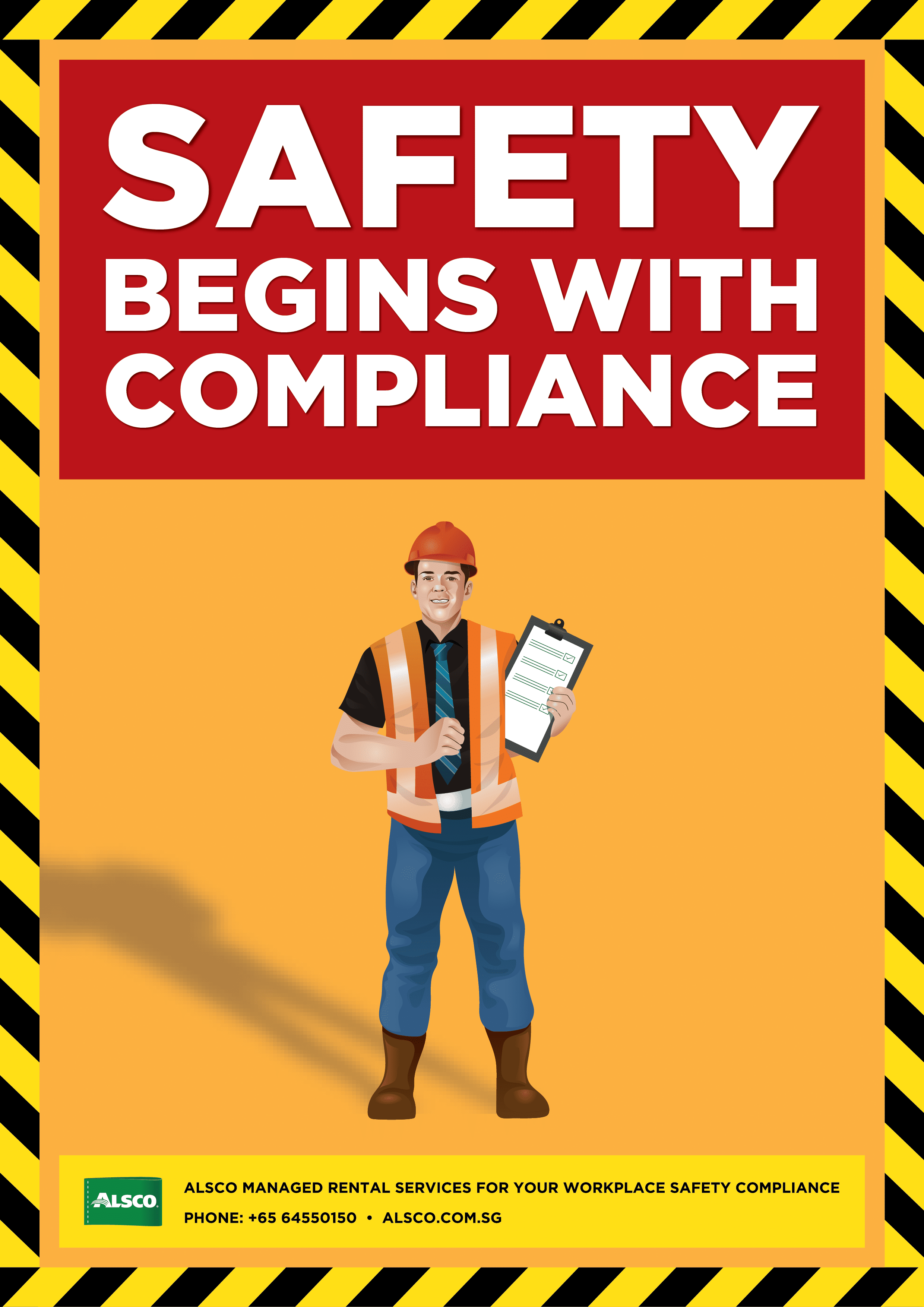 picture about Free Printable Safety Posters identified as Business Security Posters Downloadable and Printable Alsco