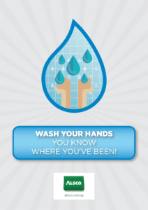 Wash your hands. You know where you've been!