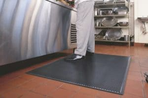 Person working inside the kitchen