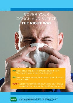 Cover your cough and sneeze the right way
