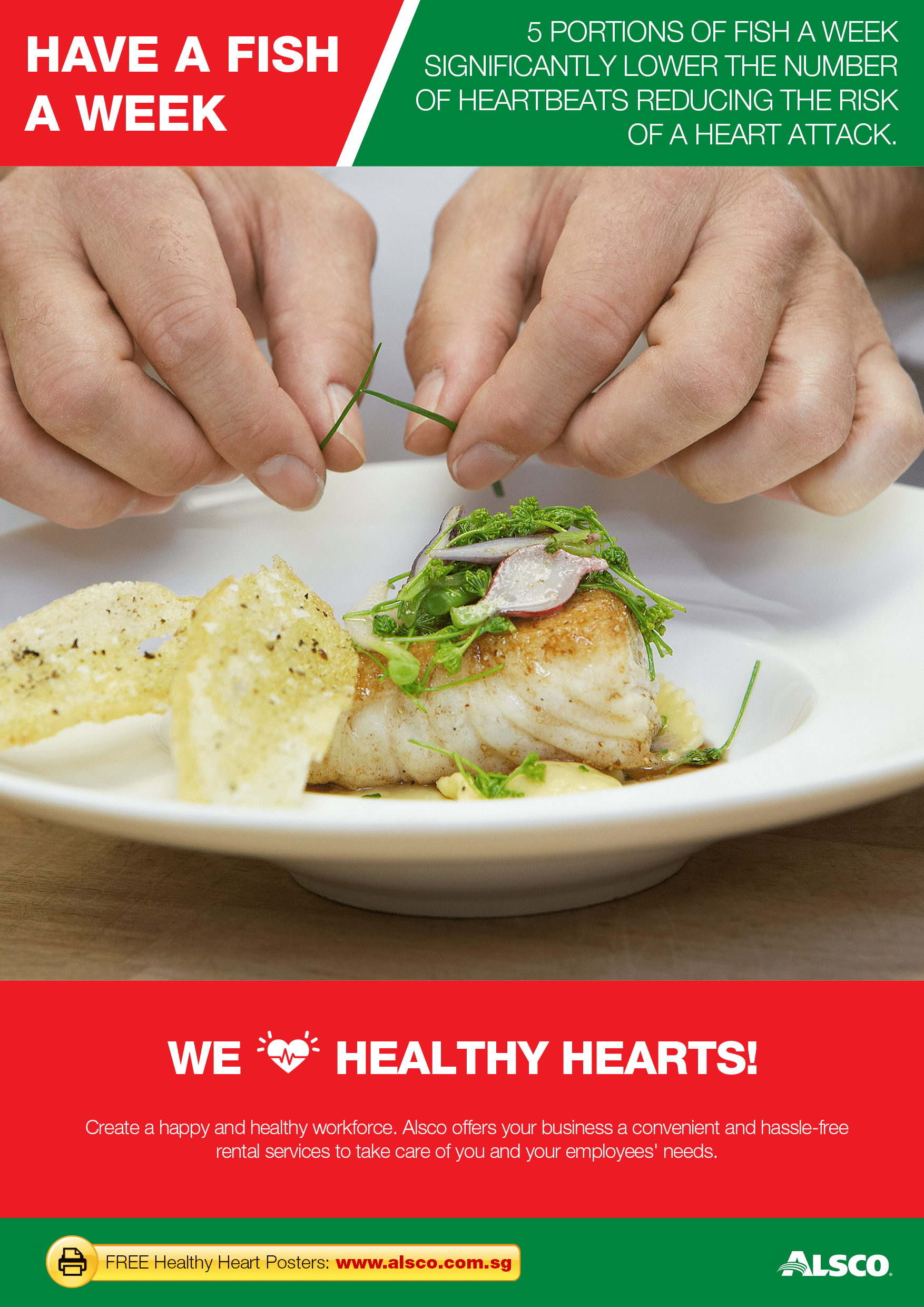 Sg workplace resources healthy hearts eat fish alsco for Healthiest fish to eat 2017