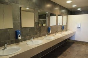 Clean looking washroom for employees