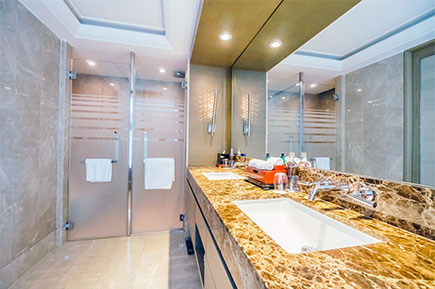 A clean and hygienic washroom