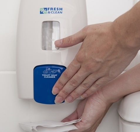 Fresh and Clean toilet seat cleaner