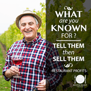 What are you known for. Restaurant profits