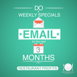 A restaurant email marketing plan.