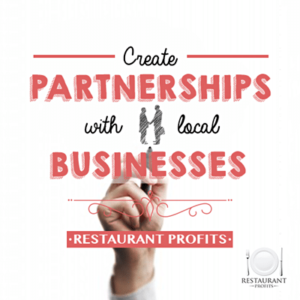 Partnerships with local businesses for restaurant supplies
