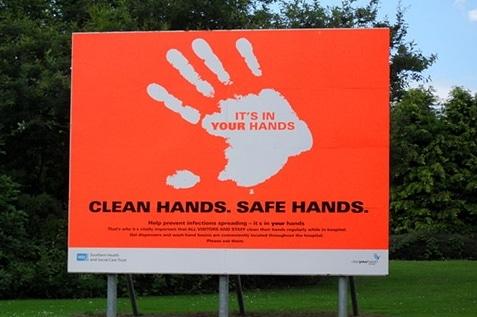 Hand hygiene reminder