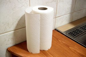 A clean paper towel