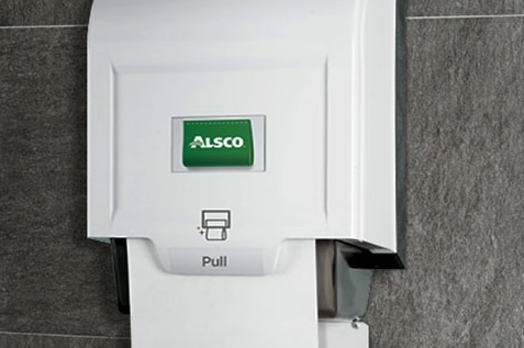 Alsco paper towel dispenser