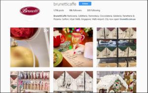 Brunetticaffe instagram account