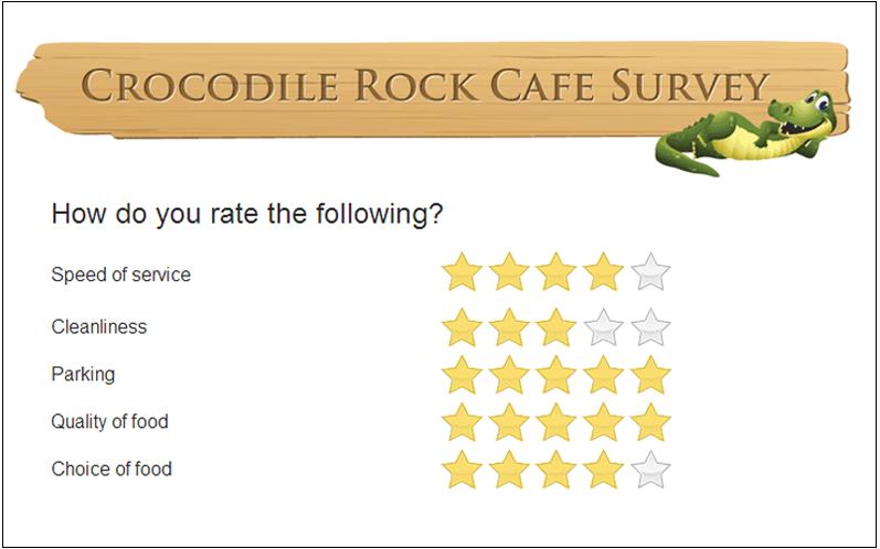 restaurant survey sample