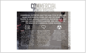 Benefits of commercial power washing.