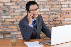 Man talking on phone.