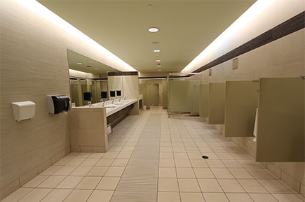 A clean workplace washroom in Singapore
