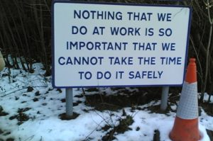 Workplace safety reminder