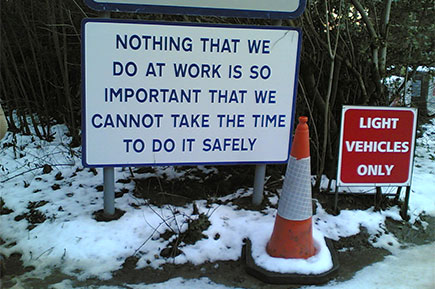 Workplace safety reminder