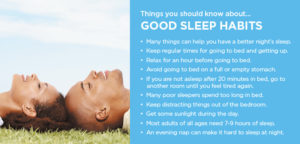 Facts about good sleep habits poster