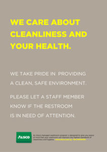 Alsco Cleanliness and Health grey poster