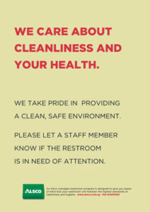Alsco Cleanliness and Health light yellow poster.