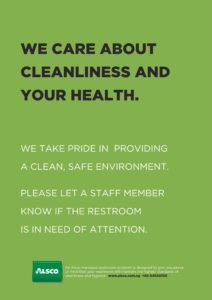 Alsco Cleanliness and Health green poster