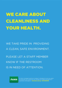 Alsco Cleanliness and Health blue poster