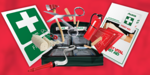 Tools needed for first aid emergency