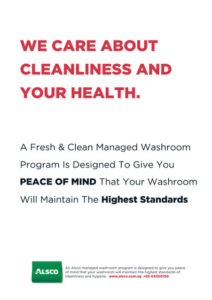 Alsco Cleanliness and Health white poster