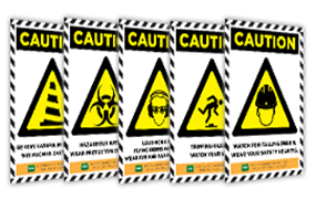 combine posters of caution signs
