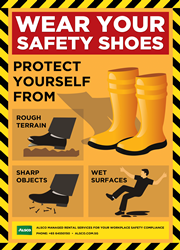 Wear your safety shoes