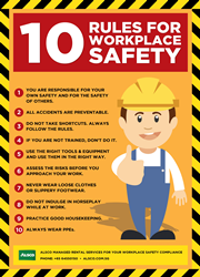 10 Rules for workplace safety