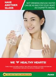 Workplace Resource: Heart Health - Drink more water