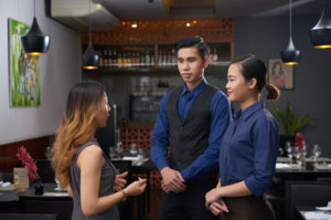 restaurant staff debriefing
