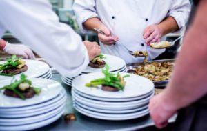 kitchen staff preparing the food